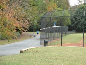Scenic resident trails in Legacy Park in Kennesaw GA