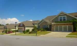 Nice curb appeal of homes at Cresswind at Lake Lanier