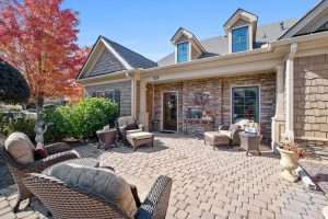 outdoor patio of home at Ballantrae active adult community