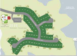 site plan for Sunrise Cove